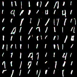 samples 4way mnist, label1, 25 epoch